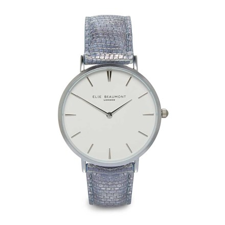 Elie Beaumont Sloane Light Blue Nappa Watch