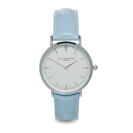 Elie Beaumont Oxford Blue Leather Watch