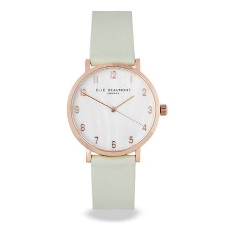 Elie Beaumont Fitzrovia Mint Leather Watch