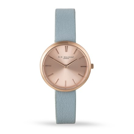 Elie Beaumont Marlow Chalk Blue Leather Watch
