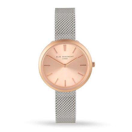 Elie Beaumont Marlow Silver Mesh Watch