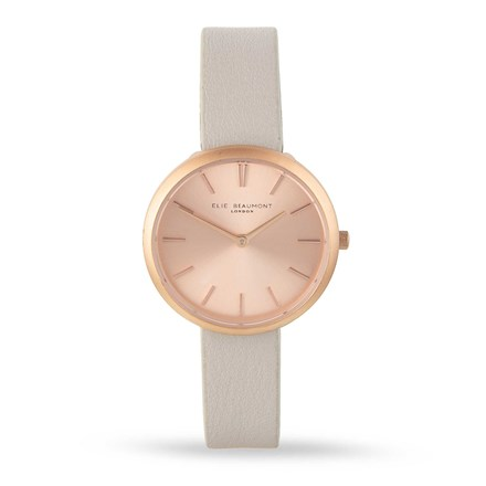 Elie Beaumont Marlow Stone Leather Watch