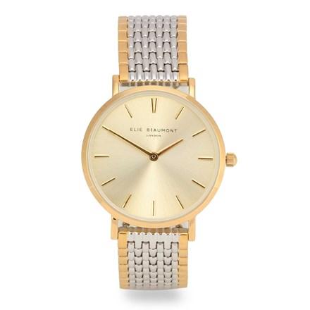 Elie Beaumont Belgravia Gold Mesh Watch