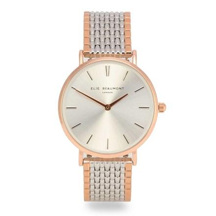 Elie Beaumont Belgravia Rose Gold Mesh Watch