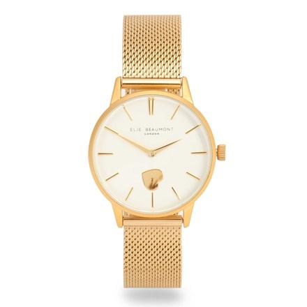 Elie Beaumont Hampton Gold Mesh Watch