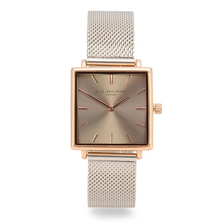 Elie Beaumont Bayswater Two Tone Mesh Watch