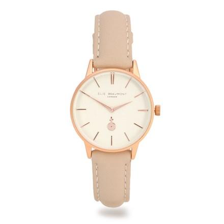 Elie Beaumont Hampton Stone Leather Watch