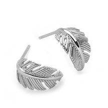 Spiritual Feather Hoops