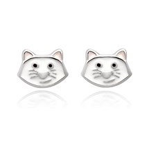 White Kitty Children's Studs