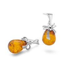 Amber Bow Earrings