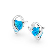 Blue Topaz Wishes Studs
