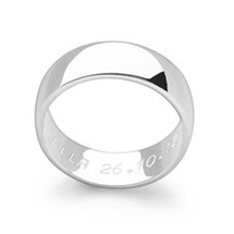 Hidden Message Ring (D-Shaped)