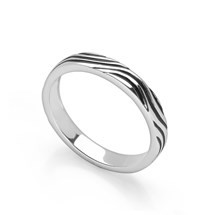 Waves Stack Ring