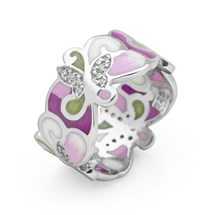 Lilac Field Ring (Rhodium)