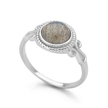 Labradorite Moon Ring
