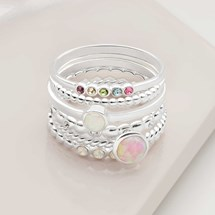 Fantasy Stack Rings (Set of 5)