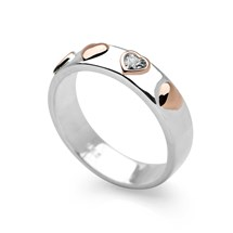 5 Of Hearts Ring