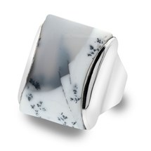 One of a Kind Dendrite Opal Ring