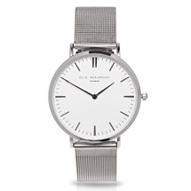 Elie Beaumont Oxford Large Silver Mesh Watch